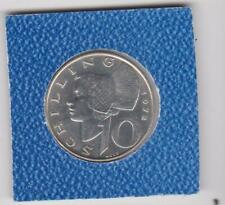 10 Schilling Österreich 1972 Wachauerin in Tracht Austria prima Erhaltung Silber