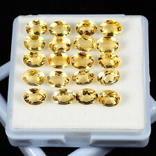 FINEST QUALITY 20 PCS LOT CITRINE 8x6mm LOOSE FACETED OVAL SHAPE GEMSTONE LOT