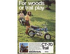 1972 Honda Trail CT-70   Refrigerator / Tool Box  Magnet
