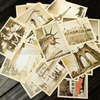 32x Vintage Postcard Europe America City Landscape Photo Poster Retro Card
