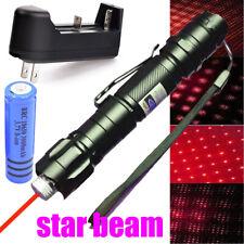900Miles Red Laser Pointer Lazer Pen Rechargeable 650nm Star Light+Batt+Charger