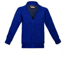 School Cardigan Sweatshirt Fleece Royal Blue Age 9-10 Uniform Girls New EB99