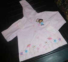 Dora The Explorer Raincoat With Hood-Preowned-Size 6-Pink And White