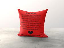 Grandma Personalised Cuddle Cushion Nan-Gran-Mamma Nanna
