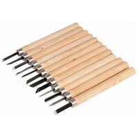 AGT 12-teiliges Holz-Schnitzwerkzeug mit Aufbewahrungsetui /& Schleifstein