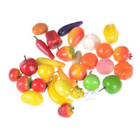 10pcs Mini simulation Fruits Vegetables Kitchen Toys Kid Pretend Play toys BX