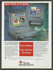 TEXAS INSTRUMENTS TravelMate 4000M portable computer -1995 Print Ad
