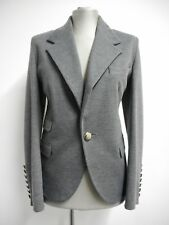 Smart/Casual Sara Berman soft grey jersey jacket one button front Made in UK14 L