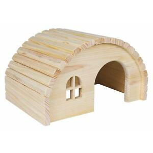 Trixie Wooden House for Guinea Pigs & Small Animals - Natural Pine - 29x17x20cm