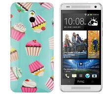 Funda protectora f HTC One Mini (m4) bolsa CASE COVER ETUI pastel dulce cupcake Panecillo