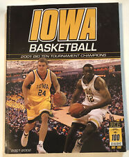 2001 University of Iowa Basketball Guide Big Ten Tournament Champions FREE SHIP