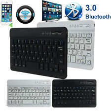 New Aluminum Wireless Bluetooth3.0 Keyboard For Laptop IOS Android Windows PC UK