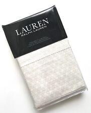 Ralph Lauren Lakeview Lattice STANDARD PILLOWCASES Cream Tan Beige MSRP $70 NEW!