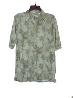 Batik Bay Short Sleeve Hawaiian Shirt Small Men Rayon Pineapple Button Down New