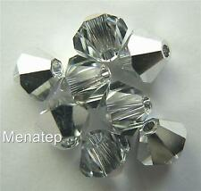 6 5mm Swarovski 5301 Bicones - Crystal CAL(Please (Please read item description)