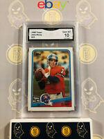 1988 Topps John Elway #23 - 10 GEM MINT GMA Graded Broncos Football Card