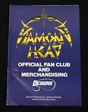 Diamond Head Official Fan Club and Merchandising Brochure