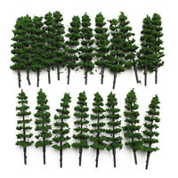 100pcs Model Trees Train Railroad Diorama Wargame Park Scenery HO scale 95mm