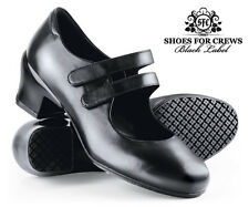 SFC Shoes for Crews Tango Black Leather Women's Shoes 3702 Size 7 / 37.5 $95 NEW