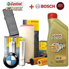 Kit tagliando olio CASTROL EDGE 0W30 7LT+4 FILTRI BOSCH BMW 330D E46 150 KW