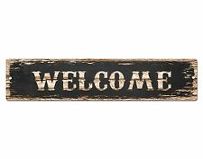 Sp0494 Welcome Street Sign Bar Store Cafe Office Restaurant Chic Decor Gift