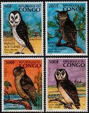 ✔️ CONGO 1996 -  FAUNA BIRDS BIRDS OF PRAY OWLS - MI. 1458/1461 ** MNH [CG001a]