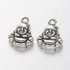 Buddha Charm Tibetan Silver Pendant qty 10