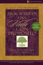 40 Días con Propósito- Una Vida con Propósito by Rick Warren (2008, Paperback)