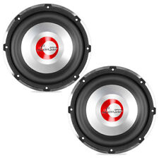Pair of Lanzar OPTI1032D 10 Inch Sub 650W Rms 2 Ohm Dual Vc Subwoofer
