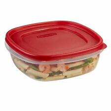Rubbermaid 7j71 Easy Find Lid Square 9 Cup Food Storage Container (Pack Of 4)