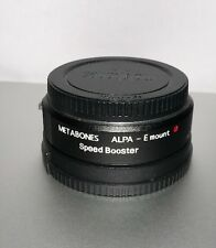 Genuine Metabones ALPA to Sony E-Mount Speed Booster ULTRA w/ Caps