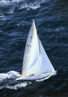 J Class Velsheda Ranger Sailing Poster 35x17 48x24 Cory Silken Poster Art Print