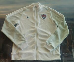 Nike Womens USA Soccer Authentic N98 Track Jacket Size Medium 727962 100 M Wmns