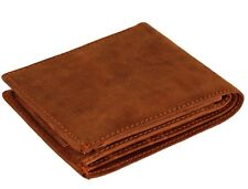 Mens Soft Wallet Genuine Leather Credit Card Holder Coin Purse Pouch 304 Brown