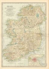 Ireland Lithography Antique Europe Atlas Maps