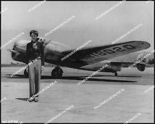 AMELIA EARHART & LOCKHEED ELECTRA L-10E, SHARP ORIGINAL VINTAGE PERIOD PHOTO