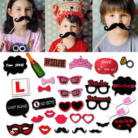 30 x HEN PHOTO BOOTH PARTY FULL SET NIGHT WEDDING PROPS SELFIE GAMES ACCESSORIES