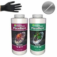 General Hydroponics FloraNova Grow & Bloom - 1 Pint Each + Gloves and Pipette