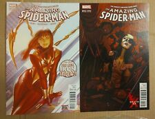 AMAZING SPIDER-MAN #15 COVER A & B MARY JANE & X-23 VARIANT 2016 MARVEL COMICS
