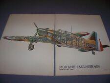 VINTAGE..MORANE SAULNIER MS 406 ...COLOR/CUTAWAY...RARE! (267D)