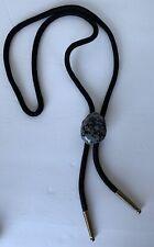Naked Gemstone Clouded Obsidian Bolo Tie Black