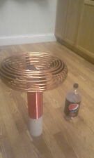"""3.5"""" x 14"""" Copper Tubing Toroid for Tesla Coils & High Voltage Projects Aluminum"""