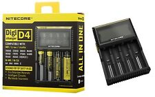 Nitecore d4 Digicharger Chargeur pour 4 batteries Li-ion NiMH NiCd LiFePO 4-New