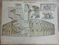 FRANCE NIMES (GARD) 1575 BELLEFOREST 16e CENTURY LARGE ENGRAVED VIEW