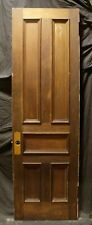 """29""""x95"""" Antique Vintage Victorian Cypress Oak Wood Wooden Interior Door 5 Panels"""