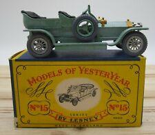 Matchbox Lesney Models of Yesteryear Rolls Royce Silver Ghost #15 Original Box