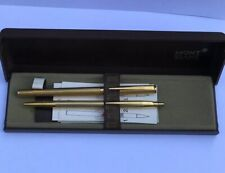 Mont Blanc Noblesse 14kt Gold Plated Pen Set With Box