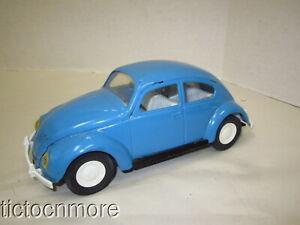 """VINTAGE TONKA VW BEETLE VOLKSWAGEN CAR PRESSED STEEL METAL BLUE 1960s 8"""""""