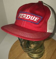 VTG PERDUE 70s 80s USA K-Products Red White Trucker Hat Cap Snapback Farming