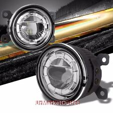 Clear Len LED Projector Front Replacement Bumper Round Fog Light Lamp+Bulb+Mount